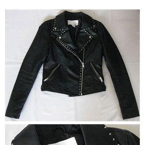 BARlll black studed moto jacket